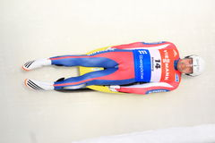 Jozef Ninis - luge. Jozef Ninis from Slovakia in men's singles luge race held in Altenberg in Germany on 21.2.2015 Stock Photography
