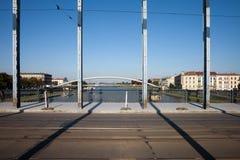 Jozef Pilsudski Bridge a Cracovia Fotografie Stock Libere da Diritti