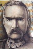 Jozef Pilsudski portrait from old five milion zloty Stock Photos