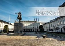 Jozef Poniatowski monument Royalty Free Stock Photos