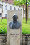 Jozsef Antall,前匈牙利总理雕象  免版税图库摄影