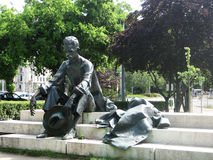 Jozsef Attila Statue royalty free stock image