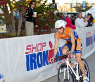 Jozsef Major Racing in the Arizona Ironman Triathl Stock Photos