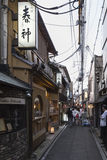 Pontocho street with restaurants in kyoto japan Stock Image