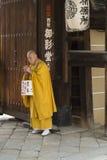 Kyoto Toji temple praying monk Stock Photo