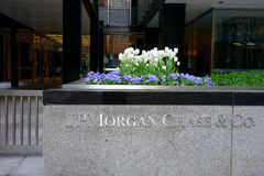 JP Morgan Chase Blooms Royalty-vrije Stock Foto's