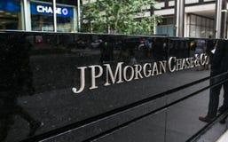 JP Morgan Chase corporate sign Royalty Free Stock Photo