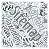 JP sitemap taxonomy word cloud concept word cloud concept background. Text stock illustration