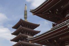 Tokyo Sanja Matsuri festival Asakusa temple pagoda Royalty Free Stock Photography