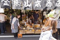 JP_Tokyo_Tsukiji_Fischmarkt-12 Stock Afbeeldingen