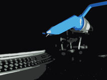 JPEG de la cubierta del vinilo de la placa giratoria de DJ Foto de archivo libre de regalías
