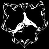 Jpg иллюстрации eps10 вектора сердца голубей бесплатная иллюстрация