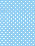 Jpg. Blue Background with White Polka Dots stock photo