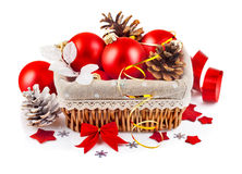 Jpg2013110719534986263 christmas red ball in basket Stock Photo