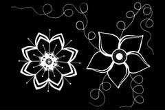 Jpg décoratif de l'illustration eps10 de vecteur de fleurs Image libre de droits