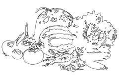 Jpg dell'illustrazione eps10 di vettore delle verdure Immagine Stock Libera da Diritti