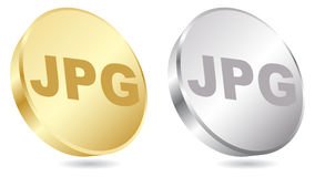 Jpg extension. Golden and silver color Royalty Free Stock Photo