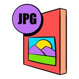 JPG file icon cartoon. JPG file icon in cartoon style isolated vector illustration Royalty Free Stock Photography