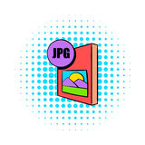 JPG file icon in comics style. On a white background Royalty Free Stock Photography