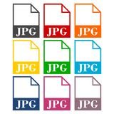 JPG file icons set. Vector icon Stock Images