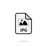 JPG file. On white background Royalty Free Stock Images