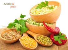 Jpg2014013112448987684 Lentil bean in wooden plate Stock Image