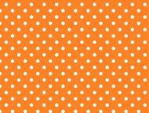 Jpg. Orange Background with White Polka Dots royalty free stock photo