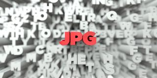 JPG -  Red text on typography background - 3D rendered royalty free stock image Royalty Free Stock Photo