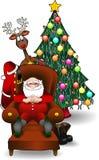jpg Santa drzewa xmas ilustracji