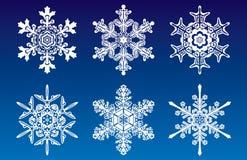 jpg snowflakes Στοκ Εικόνες