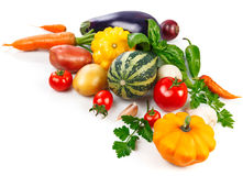 Jpg6172384201609061226stilllife112 Fresh vegetables with green leaves and herbs Stock Photo