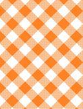 JPG Woven Orange Gingham stock images