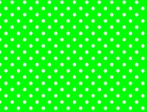 Jpg. Green Background with White Polka Dots stock image