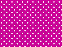 Jpg. Pink Background with White Polka Dots royalty free stock image