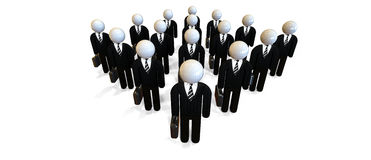 JPG + vektorabbildung Experten und Berater Stockfoto