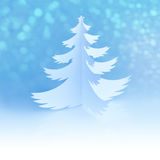 White Handmade Christmas Tree with magic snowflakes Stock Images