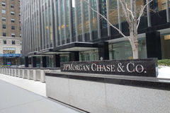 JPMorgan Chase Headquarters. The headquarters of JP Morgan Chase & Co.,  a multinational banking and financial services company, on Park Avenue, New York City Stock Photos