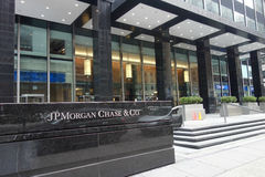 JPMorgan chassent des sièges sociaux Photo libre de droits
