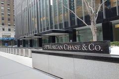 JPMorgan chassent des sièges sociaux Photos stock