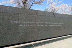 jr μνημείο Martin βασιλιάδων luther μνημείο, Ουάσιγκτον Δ Γ στοκ εικόνες