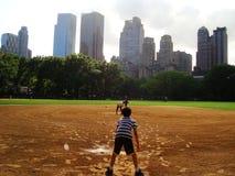 Jr. Baseball at the Central Park - NYC Royalty Free Stock Photo