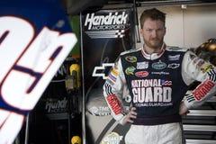 Jr. de Dale Earnhardt na garagem Imagem de Stock