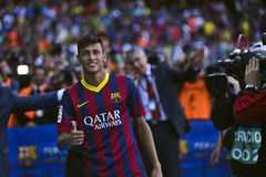 JR de Neymar présentation officielle comme joueur de FC Barcelona Photo stock