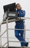 Jr. de Ricky Stenhouse em um alador Imagens de Stock