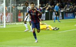 JR FC Barcelone de Neymar Imagen de archivo libre de regalías