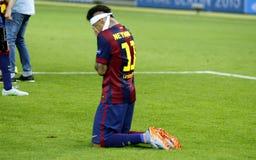 JR FC Barcelone de Neymar Imágenes de archivo libres de regalías