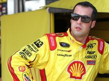 Jr. Hornish de Sam à la piste Photos stock