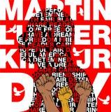 jr królewiątka luther oknówka Dnia tło Ilustracja Martin Luther King, jr świętować MLK dzień Zdjęcie Stock