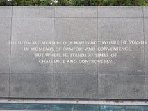 JR monumento de Martin Luther King Imágenes de archivo libres de regalías