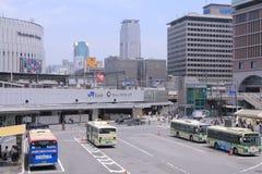 JR Osaka Station bus terminal Japan Royalty Free Stock Photo